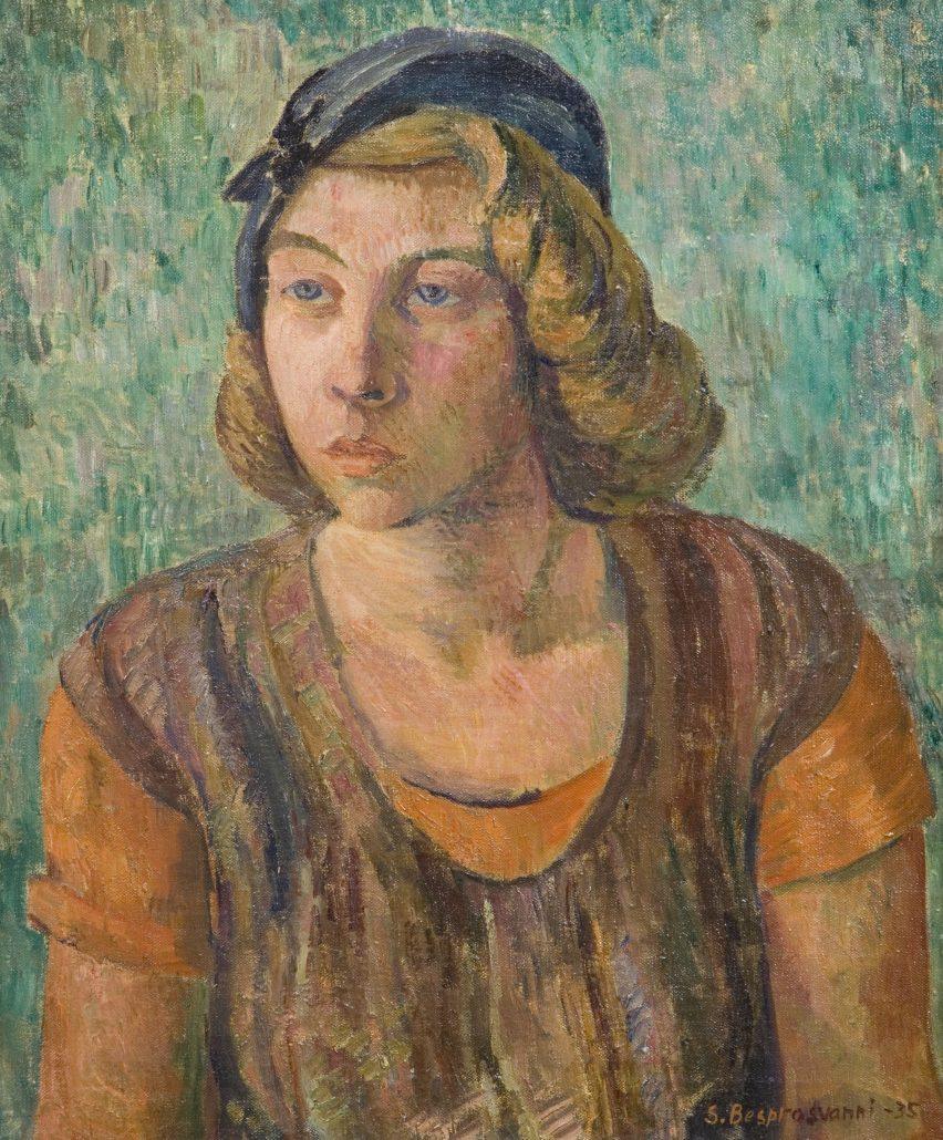 Sam Vanni (aiemmin Samuel Besprosvanni) maalasi Tove Janssonin muotokuvan 1935. Teos kuuluu Gösta Serlachiuksen taidekokoelmaan. Vanni työskenteli opettajana Vapaassa Taidekoulussa 1944–1956. Valokuva: Tomi Aho.