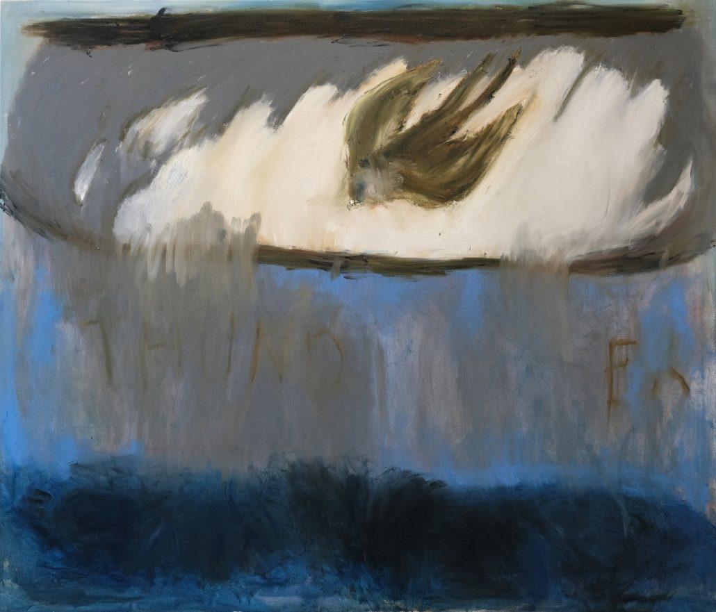 Inkeri Halme: Haluun, et nousee myrsky, 2020, öljy kankaalle, 170 x 150 cm