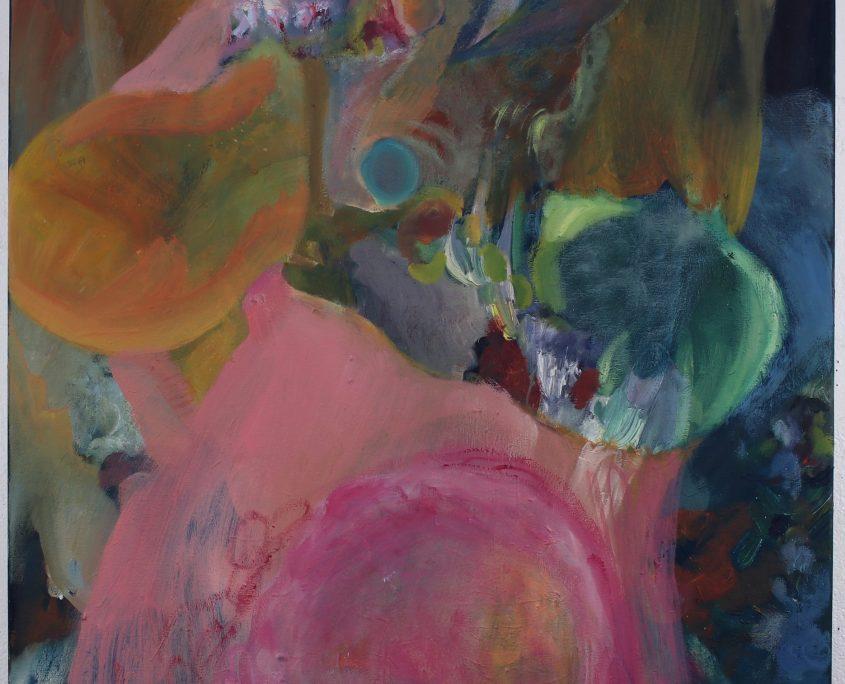 Satu Salomaa: Opening heart, akryyli- ja öljyväri kankaalle, 81 x 65, cm, 2020