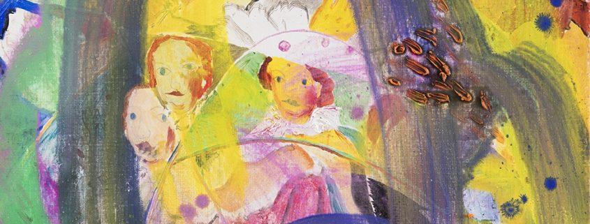 Yksityiskohta Aki Turusen teoksesta Regina, Chinoiserie, 91cm x 86m, hopeakynä, mehiläisvaha ja öljyväri ikonipohjalle 2020, HUSin kokoelma, (kuva Jussi Tiainen).