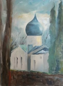 """Miranda Dunderfeltin maalaus """"Kappeli"""""""