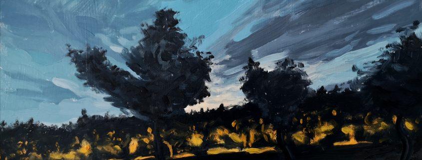 """Lauri Ristan maalaus """"Hetki ennen pimeää"""""""