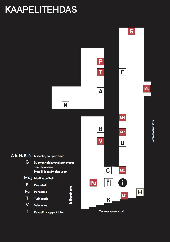 Kaapelitehtaan kartta