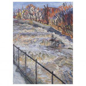 Jaakko Pennasen maalaus Koski